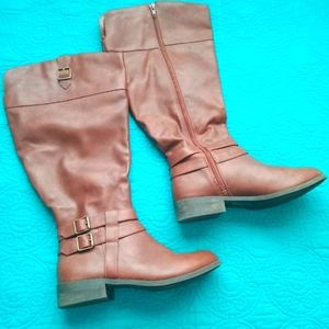 Brown Boots - Zip Up Zipper - Boots with Buckles 8